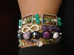 My wrist filled with Karen Whalen Designs delights! All made to order....