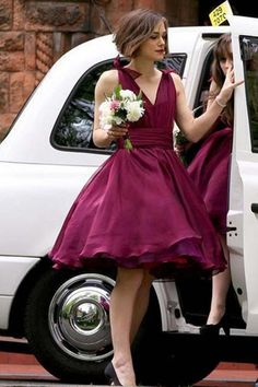 homecoming dresses,A-line short dresses, cheap knee-length bridesmaid dress ,party dress
