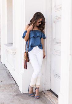 Un básico que no debe de faltar en tu armario, pantalón blanco.