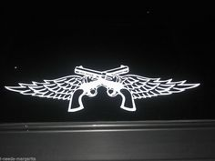Miranda Lambert  Country Music Guns Wings Vinyl Decal Sticker Car Truck Window  #MakeMinePersonal #WindowDecal