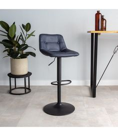 The Ezra bar stool has an elegant but tough appearance. The trumpet foot makes the stool very stable and tough looking. This stool is available from stock in 6 beautiful PU leather colours. Table, Furniture, Industrial Bar Stools, Trumpet, Home Decor, Pu Leather, Super, Colours, Elegant
