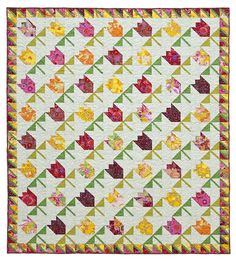 Tulips pieced quilt pattern by Laura Nownes