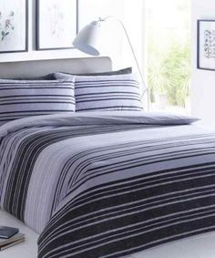 Texture Stripe Grey Duvet Quilt Cover Bedding Set – Linen and Bedding Plaid Bedding, Linen Bedding, Bedding Sets, Bed Linens, White Bedding, Custom Bedding, Zara Home, Bed Covers, Duvet Cover Sets