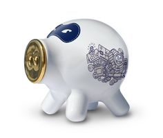 Pig Pocket White Ceramic designed by Robert Bronwasser made in Netherlands as part of Gifts and Occasion and Wedding and Home Accessories and Home Decor and Decorations tagged Dutch design - image 1 on CROWDYHOSUE Money Bank, Decorative Accessories, Home Accessories, Laser Cut Metal, This Little Piggy, Funky Design, China, Grab Bags, Bebe