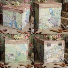 #decoupage #handmade #beatrixpotter #декупаж #беатриспоттер #винтаж #vintage