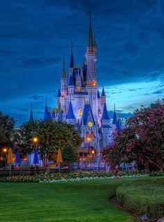 Cinderella Castle at dusk | Walt Disney World