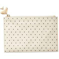 kate spade new york Pencil Pouch (£21) ❤ liked on Polyvore featuring home, home decor, office accessories, bags, stationary, black dots, black pencil case, black pencils, kate spade and kate spade pencil pouch