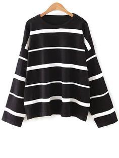 Striped Round Neck Knitwear