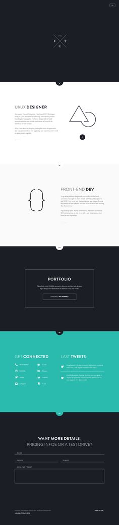 Personal website by Vincent Tantardini