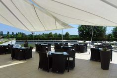 Die Terrasse zum Chillen (Hotel Livada Prestige in Moravska Toplice, #Slowenien)