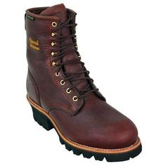 Chippewa Boots Men's Brown Waterproof EH Steel Toe 73060 Insulated Logger Work Boots