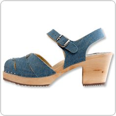 Jeans Clog By Cape Clogs. I emailed Cape Clogs and was told there wasn't any leather on these. Im still unsure as I haven't seen them in person.