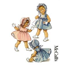 1960s Toddlers Dress and Bonnet Pattern McCalls by CynicalGirl, $32.00