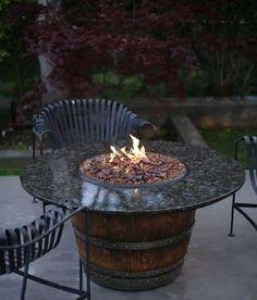 Arredare un giardino con materiale di recupero - Botte per fuoco