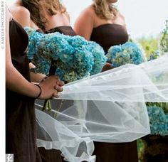 A Blue and Brown Wedding
