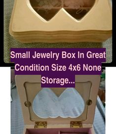 Jewelry Boxes And Organizers | Small Jewelry box In great condition  Size 4x6 None Storage & Organization Jewelry Organizers | Jewelry Boxes And Organizers | Jewelry Organizer Ideas Diy Small Jewelry Box, Gold Filled Jewelry, Jewelry Sets, Jewelry Making, Fashion Jewelry Necklaces, Fashion Necklace, Jewelry Organization, Storage Organization, Beaded Wedding Jewelry