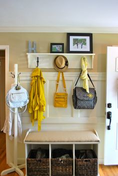 DIY entryway storage love this idea goin to search It