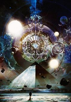 """Light and Darkness. One cannot exist without the other. There is no true Master, without the power of balance. ☥"" Luis Marques ~ Gratitude ~ digital art by Stephan Martiniere photo editing & .gif animation by google.com/+DarkAngel0ne"