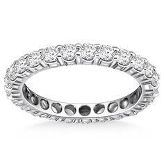 1.20 Tcw 14K White Gold Ageless Round Cut Diamond Eternity Ring