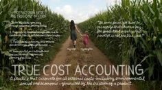 """""""True Cost Accounting: The Real Cost of Cheap Food[…] When [we] add [the] health, social & environmental costs [i.e. higher medical costs to cover uninsured workers, taxes for welfare & such services for workers paid too little &/or worked too much to stably support family needs, & the need to clean up waterway polluted by factories & Ag chemical run-off] back into the cost of cheap food, it suddenly isn't so cheap after all."""""""