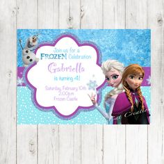 Frozen Birthday PDF invitation  Elsa by GabbyCatCreations on Etsy, $5.00
