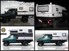 "The composite monocoque XPCamper with its signature, hydraulically operated, vertical slide rests atop an extensively modified 138"" wheelbase Ford E350 chassis."