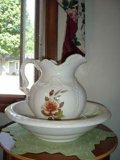 Vintage Water Bowl & Pitcher now at www.ebay.com/usr/christineswardrobe