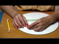 How to make a gumpaste Christmas poinsettia using the quilling method tutorial