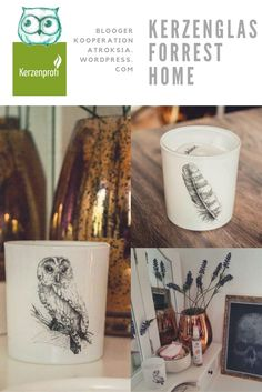 """Mia durfte auf ihrem Blog """"Atroksia"""" einige unserer Produkte testen und hat uns dafür mit super schönen Bildern belohnt <3 Hier zu sehen: die Kerzengläser aus unserer Forest Home Reihe und die Sandra Rich Glasvase Hurricane Kupfer"""" #deco #deko #accessoires #einrichten #wohnen #kupfer #vasen #homedecor #eule #feder #forest"""