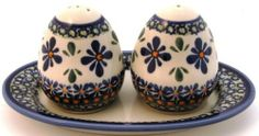 Boleslawiec Polish Pottery Salt Pepper DU60 by Polish Pottery. $37.99. Complete your table setting with the Polish Pottery salt and pepper set that comes with a serving tray to hold the set. This traditional, hand painted piece is microwave, oven and dishwasher safe. The item is a first quality piece from the oldest ceramics factory in Boleslawiec, Poland featuring design DU60. It is hand painted using the Bunzlauer sponging technique and is fired at 2200 degrees F a...