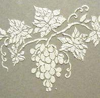 With the grapes and vine separate on this stencil, you have the ability to do whatever you wish with this one!  Trail it all over the kitchen