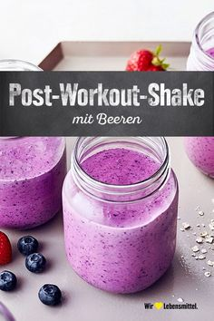 Our recipe tip for after exercise: The post-workout shake provides the body with the nutrients it ne Good Protein Snacks, Best Protein, Healthy Protein, After Workout Food, Post Workout Food, Post Workout Shake, Low Fat Yogurt, Food Photography Tips, Crunches