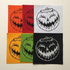 Pumpkin Canvas Fabric Patch Halloween by InfiniteDreamsDesign