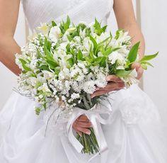 Bouquet de Noiva de Alstroemeria Branca