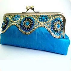 Women ClutcHandbags Beads Evening Exquisite Beaded Embroidered Wedding Party Bridal Handbag