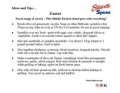 Ideas and tips for Stuart's Spice Zaatar Spice Shop, Naan, Spices, Baking, Tips, Ideas, Bread Making, Patisserie, Backen