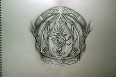Sketch for the shoulder armor tattoo