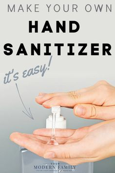 DIY Hand Sanitizer (Just two ingredients!) - it works! Also, find DIY Disinfectant Wipes, all-natural face wash & more! This Hand Sanitizer kills germs fast! DIY Hand Sanitizer (Just two ingredients!) - it works! Homemade Cleaning Products, Cleaning Recipes, House Cleaning Tips, Cleaning Hacks, Diy Cleaners, Cleaners Homemade, Natural Face Wash, Natural Disinfectant, Natural Cleaners