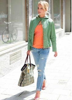 short jacket green
