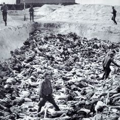 """SS Doctor Fritz Klein standing amongst the dead at Belsen.""""My Hippocratic oath tells me to cut a gangrenous appendix out of the human body. The Jews are the gangrenous appendix of mankind. That's why I cut them out."""""""