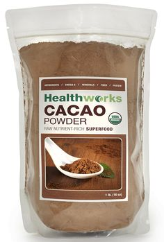 Amazon.com : Healthworks Raw Certified Organic Cacao Powder, 1 lb : Baking Cocoa : Grocery & Gourmet Food