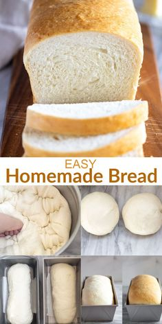 Look no further for the BEST and simplest homemade Bread recipe made with just six simple pantry ingredients! It& the perfect white bread for sandwiches and it freezes well too! Best Bread Recipe, Easy Bread Recipes, Baking Recipes, Bread Flour Recipes, Fluffy Bread Recipe, Bread Dough Recipe, Apple Recipes, Potato Recipes, Free Recipes
