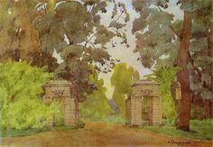 anna-ostroumova-lebedeva-pavlovsk-gates.jpg  Love the watercolor.  Maybe put in family room
