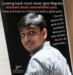 No looking back with regret!!