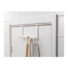 Covered back prevents scratching of door. Hangs over the top edge of the door and helps you convert unused space into a storage place for bathrobes and bags.
