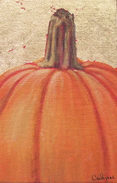 Pumpkin painting for fall decorating. $25.00, via Etsy.