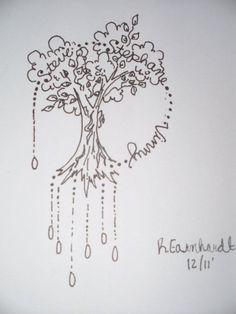Family Trees Tree Tattoo Designs, Tattoo Ideas, Dangles, Family Trees, Tattoos, Flowers, Tatuajes, Florals, Family Tree Chart