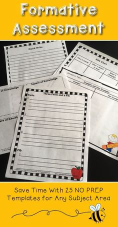 Formative Assessment Templates For Grade and 3 Formative Assessment Tools, Assessment For Learning, Summative Assessment, Learning Centers, Student Learning, Primary Teaching, Teaching Ideas, Elementary Teaching, Halloween Activities For Kids