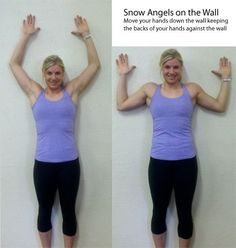 wall angels and 2 more simple exercises for the back to improve posture and prevent pain/injury.