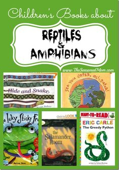 Children's Books about Reptiles and Amphibians www.TheSeasonedMom.com